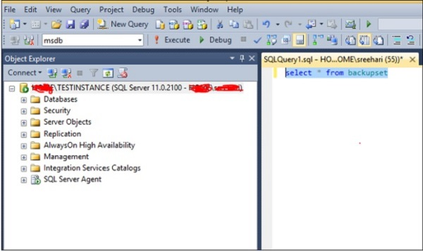 Ms Sql Server Select Database