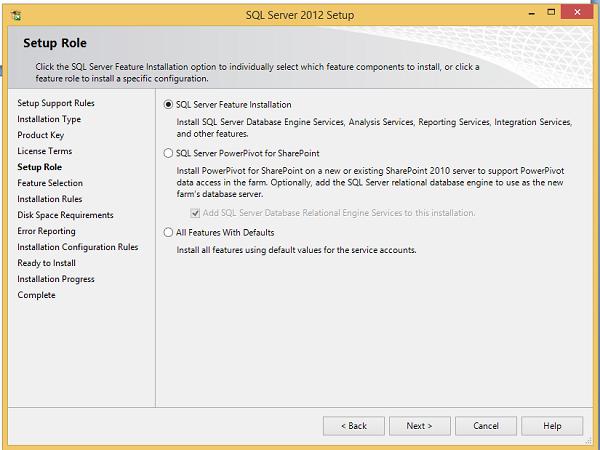 Install sql server 2012 in windows server 2012 r2.