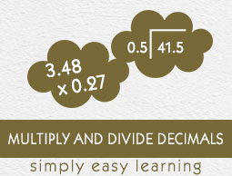 Multiply and Divide Whole Numbers