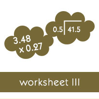 multiplication of a decimal by a power of ten worksheets previous page