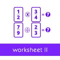 Modeling Multiplication of Proper Fractions: Worksheets