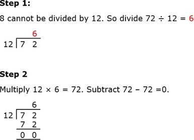 72 Divide by 12
