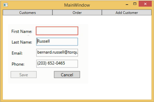 MVVM Validations MainWindow2