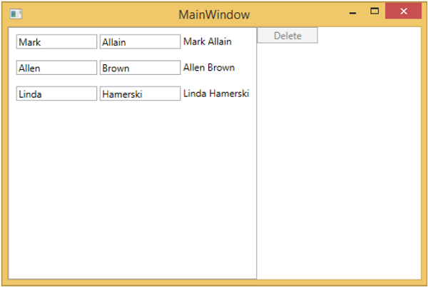 View and ViewModel Communication MainWindow1