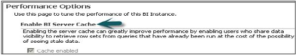 Enable BI Server Cache
