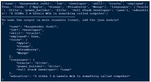 Object Oriented Python - Object Serialization - Tutorialspoint