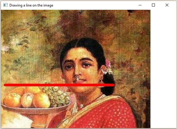 Drawing Lines In Opencv : Opencv drawing a line