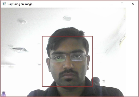 OpenCV - Face Detection using Camera - Tutorialspoint