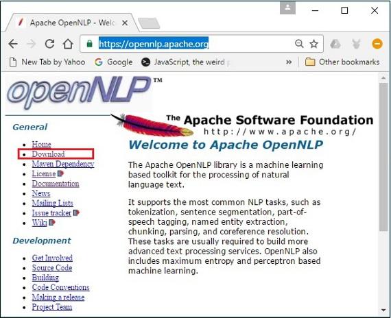 Opennlp parser online dating