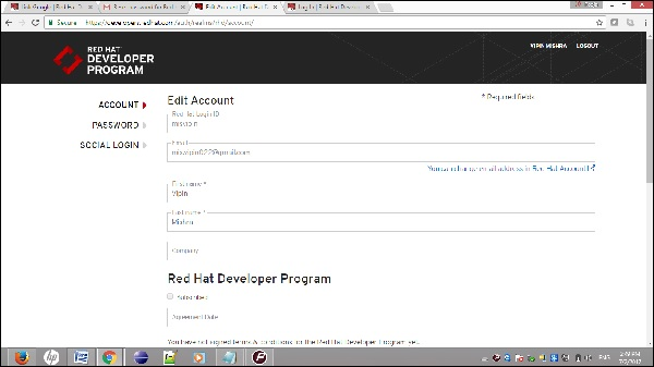 RedHat Account Setting Step3-2