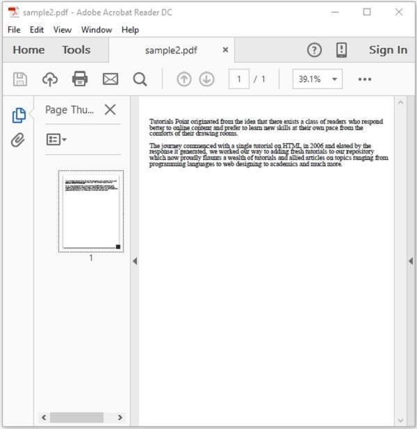 PDFBox - Splitting a PDF Document - Tutorialspoint