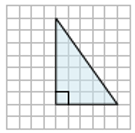 Finding the area of a right triangle on a grid Example2