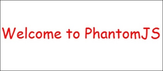 Welcome Phantomjs
