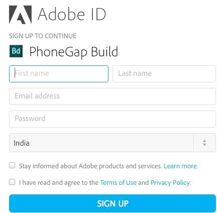PhoneGap - App Compilation