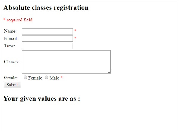 Validating form input in php