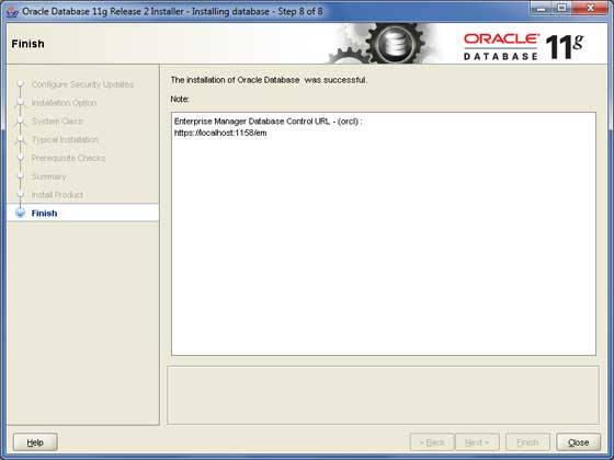 Oracle Install 8