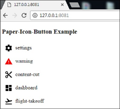 Polymer - Paper Icon Button