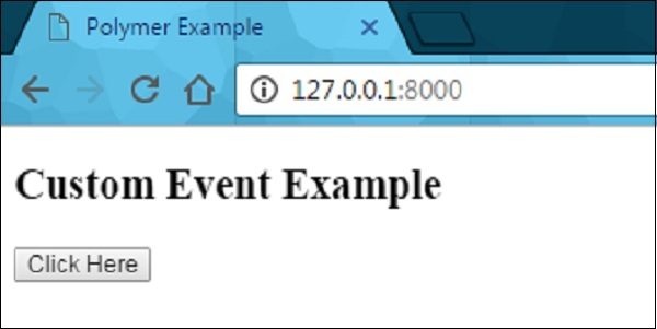 Polymer Custom Events