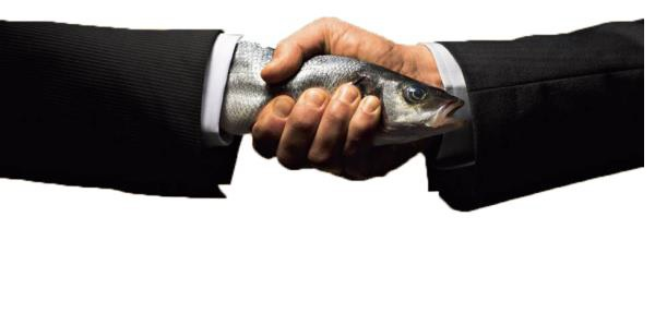 Wet Fish Handshake