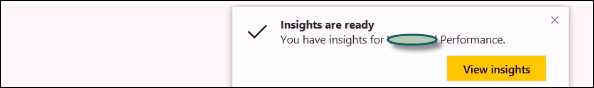 Get Insights Option