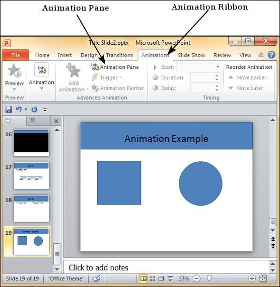 Add And Preview Animations Powerpoint 2010