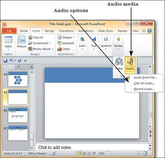 Adding Audio & Video in Powerpoint 2010