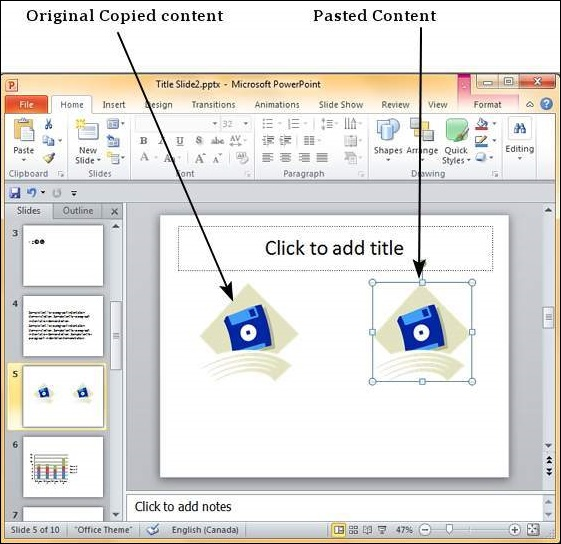 Duplicating Content in Powerpoint 2010