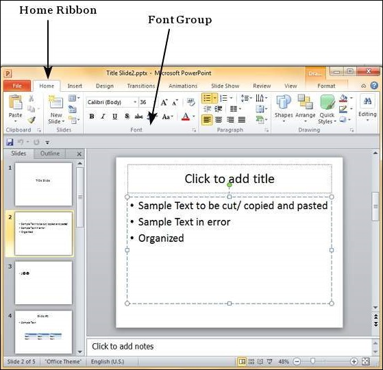 Font Management in Powerpoint 2010
