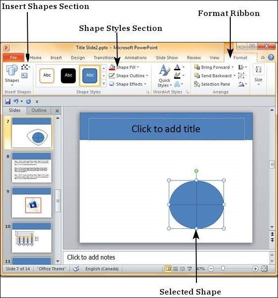 Editing Added Shapes in Powerpoint 2010