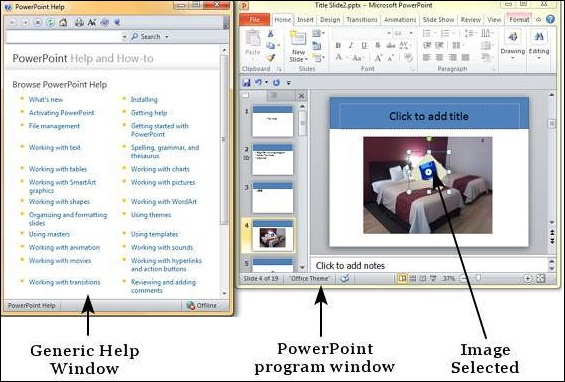 Get Context Help in Powerpoint 2010