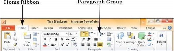 Text Alignments in Powerpoint 2010