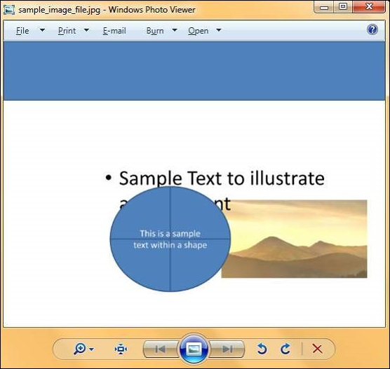 Create Image File in Powerpoint 2010