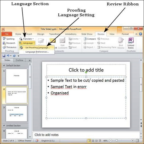 Spelling Check In Powerpoint 2010