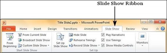 Running Slide Show in Powerpoint 2010