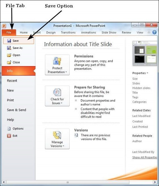 Saving presentation in powerpoint 2010 toneelgroepblik Image collections