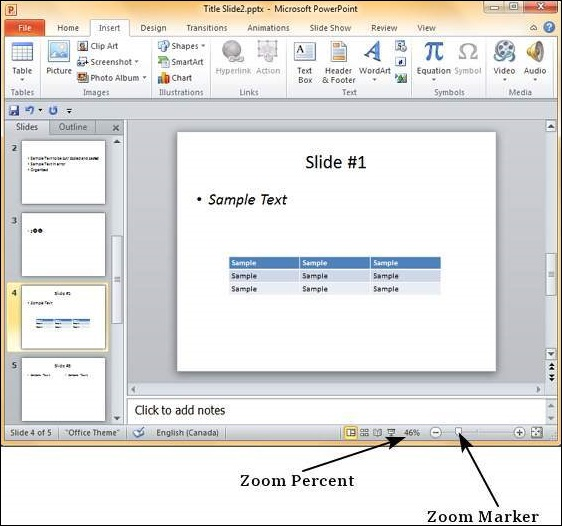 Slides Zoom In-Out in Powerpoint 2010