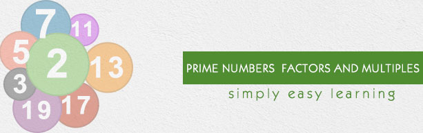 Prime Numbers Factors and Multiples
