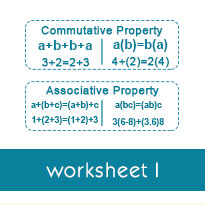 introduction to properties of multiplication worksheets