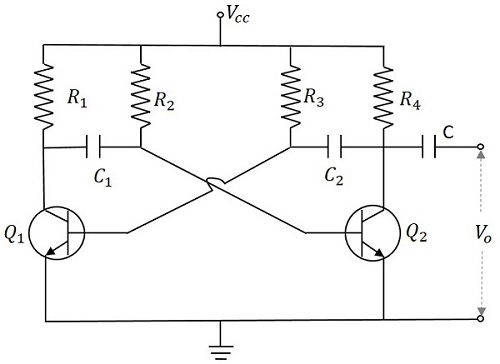 pulse circuits astable multivibratoroperation of astable multivibrator