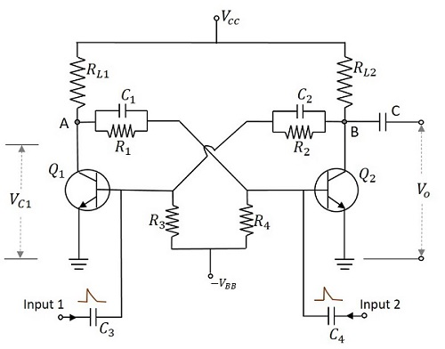 pulse circuits bistable multivibrator