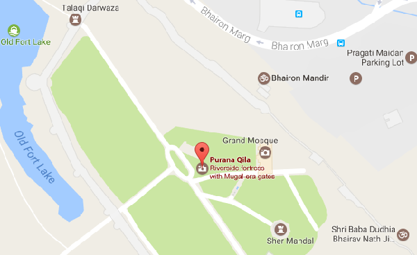 Purana Qila Map