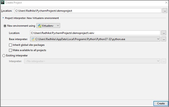 Pycharm - Interpreters