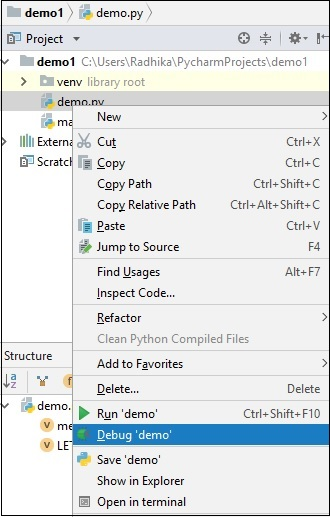 Pycharm - Debugging and Breakpoints