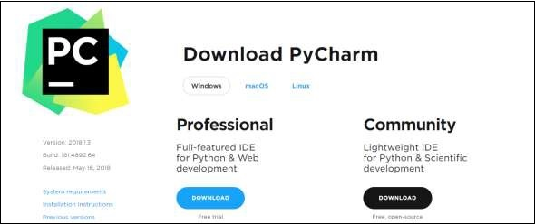 Download Pycharm