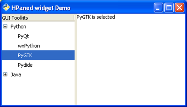 PyGTK - Quick Guide