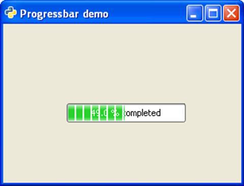 PyGTK - ProgressBar Class - Tutorialspoint