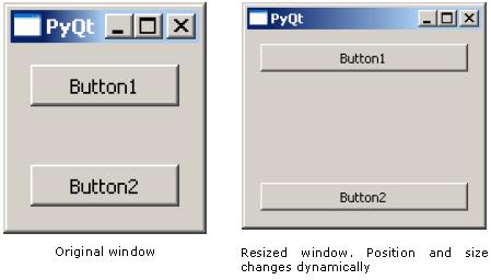 PyQt - QBoxLayout Class
