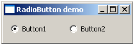 QRadioButton Widget Output