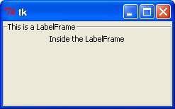 Python - Tkinter LabelFrame