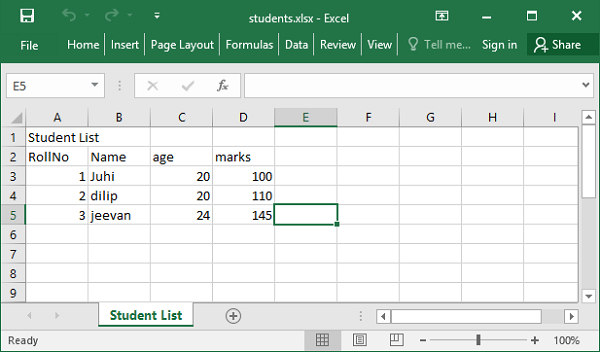 Excel Application